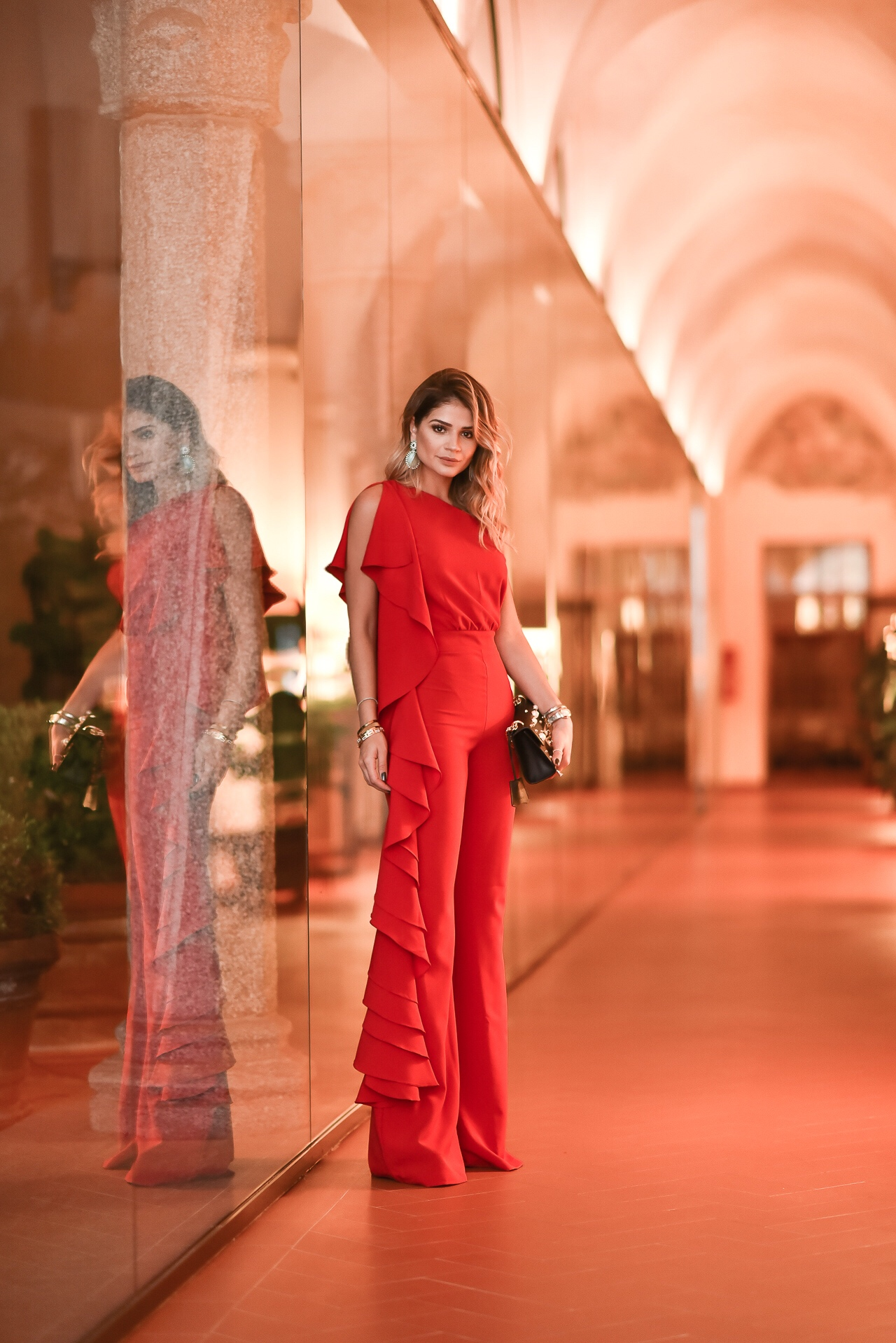 Macacão Vermelho_Iorane_Look da Thassia na MFW_2