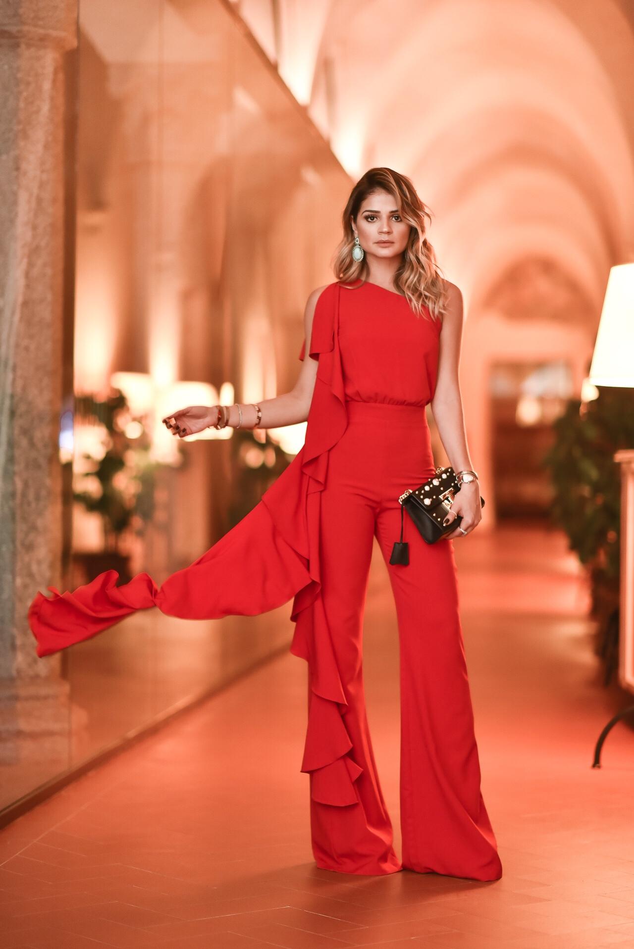 Macacão Vermelho_Iorane_Look da Thassia na MFW_4