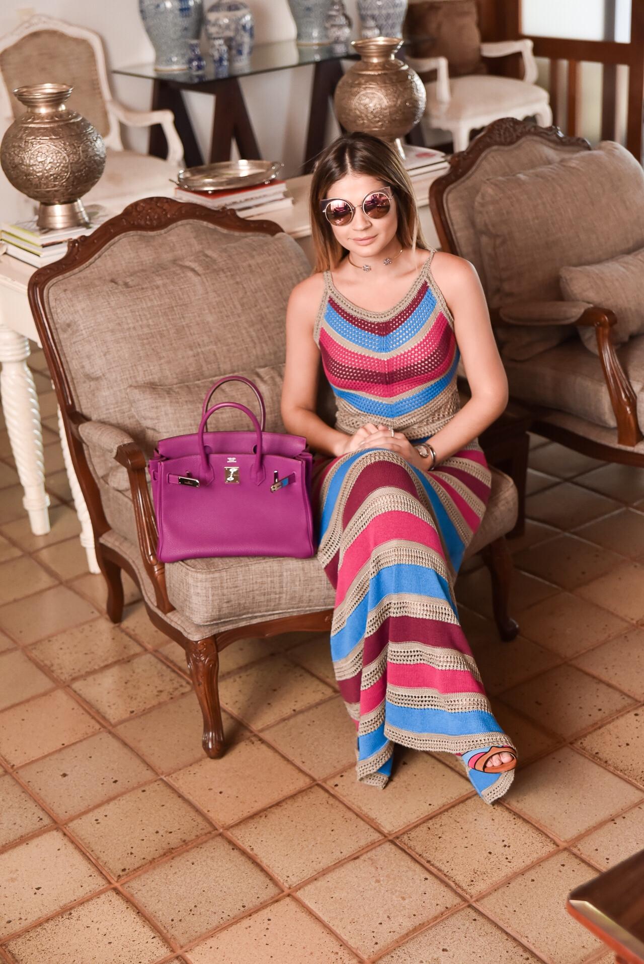 Vestido Colorido Longo_Galeria Tricot_Thassia Naves_1