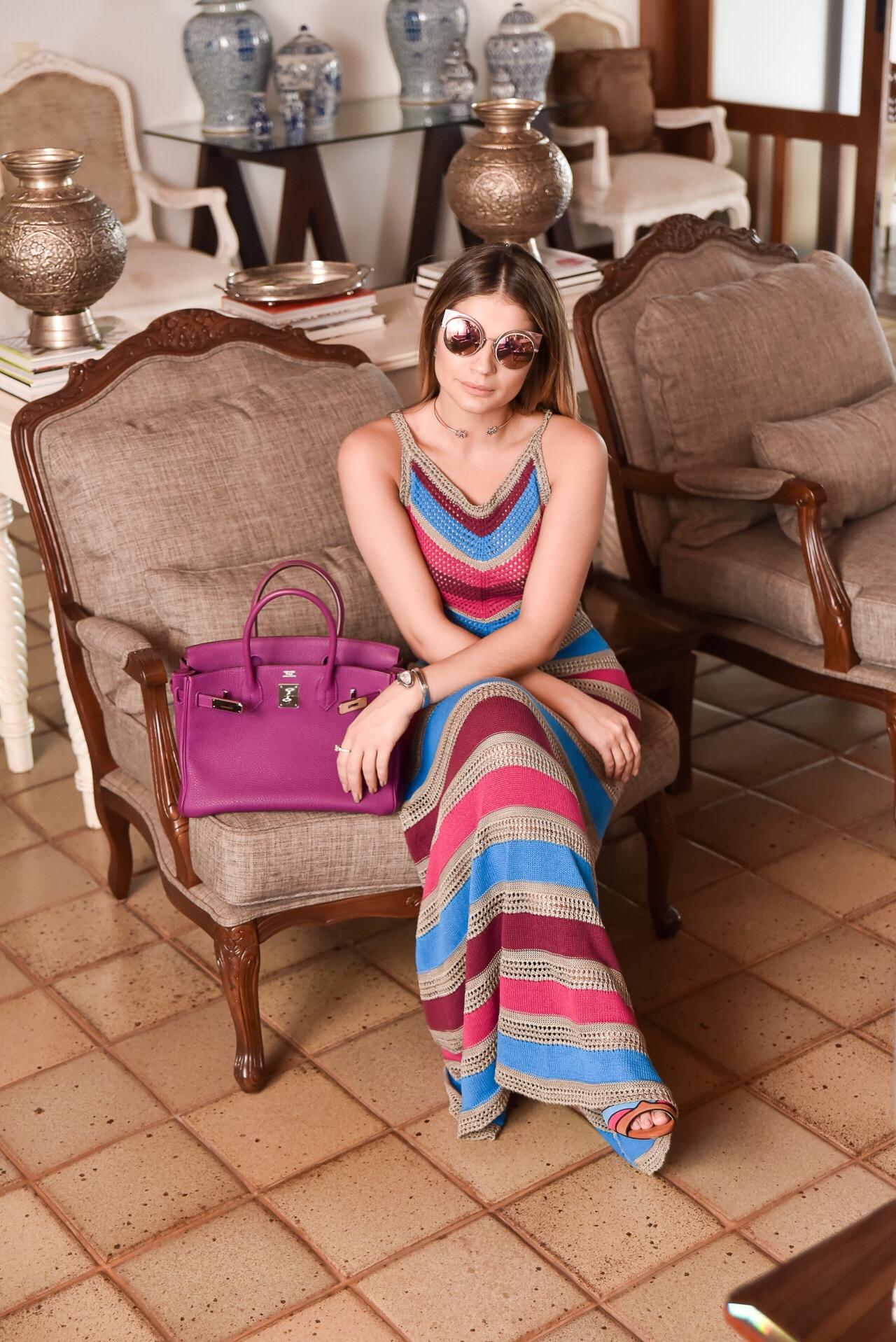 Vestido Colorido Longo_Galeria Tricot_Thassia Naves_2