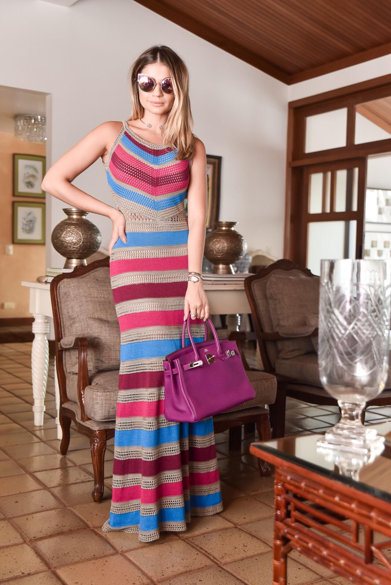Vestido Colorido Longo_Galeria Tricot_Thassia Naves_3
