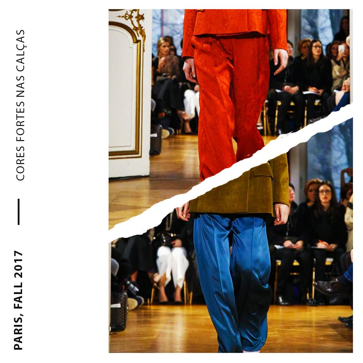 cores fortes nas calças