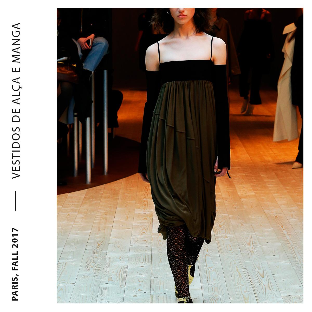 vestidos de alça e manga longa