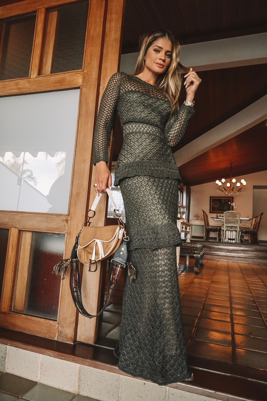 Vestido longo verde 2018