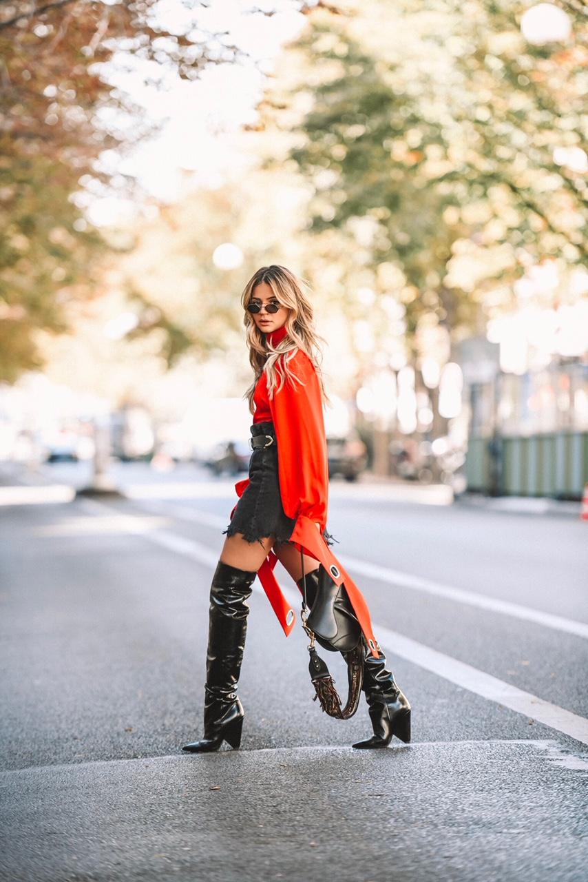 Thassia em Paris_Look Vermelho2