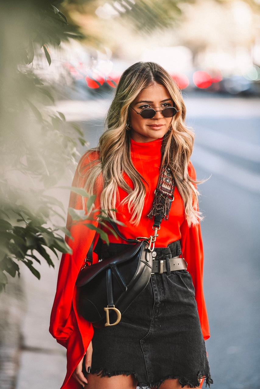 Thassia em Paris_Look Vermelho4