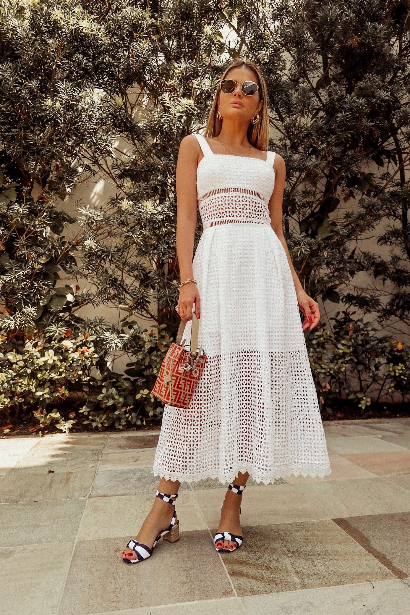 Thássia vestido midi branco agilita