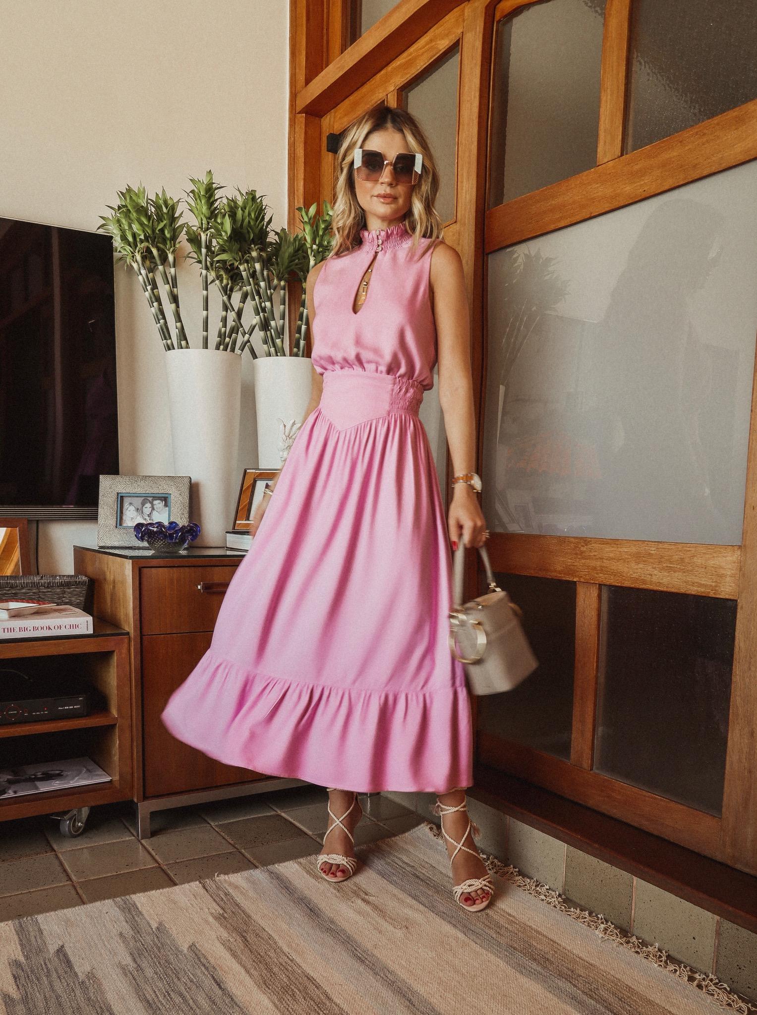 Thássia vestido rosa 1