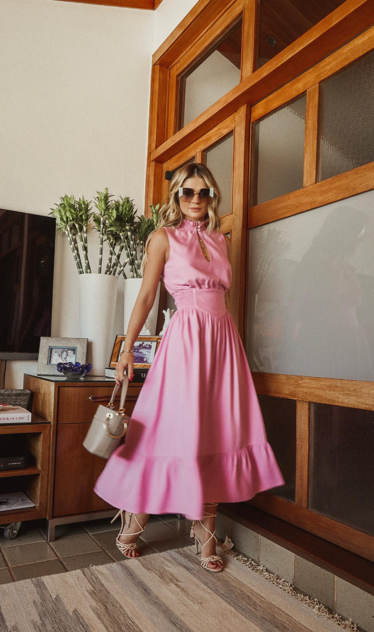 Thássia vestido rosa 2