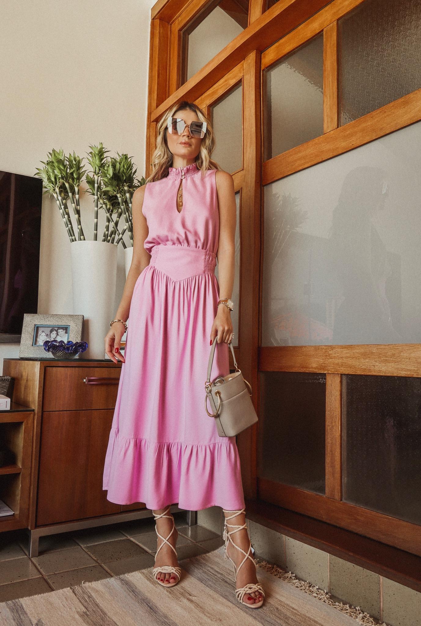 Thássia vestido rosa