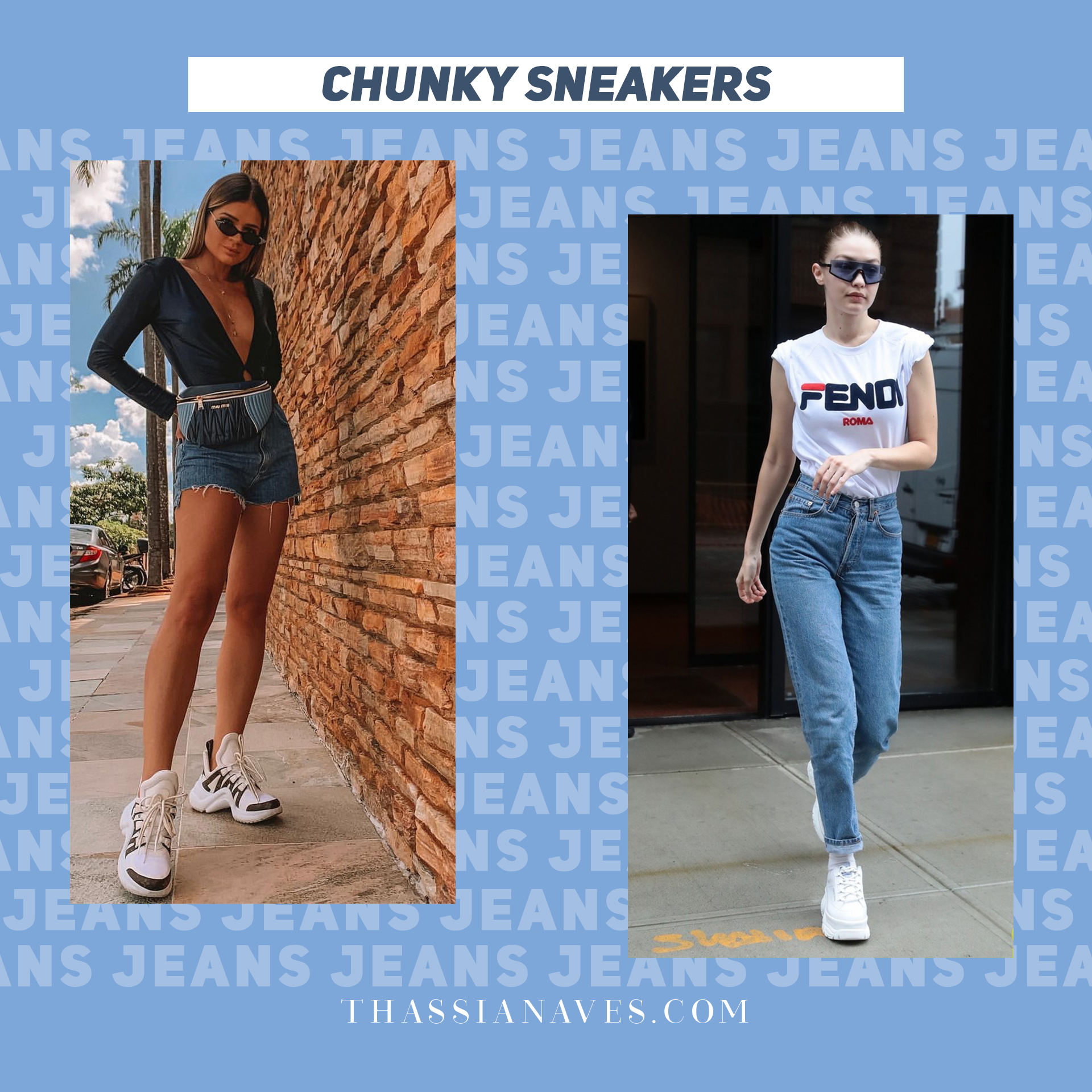 Thássia jeans dia-a-dia chunky sneaker2
