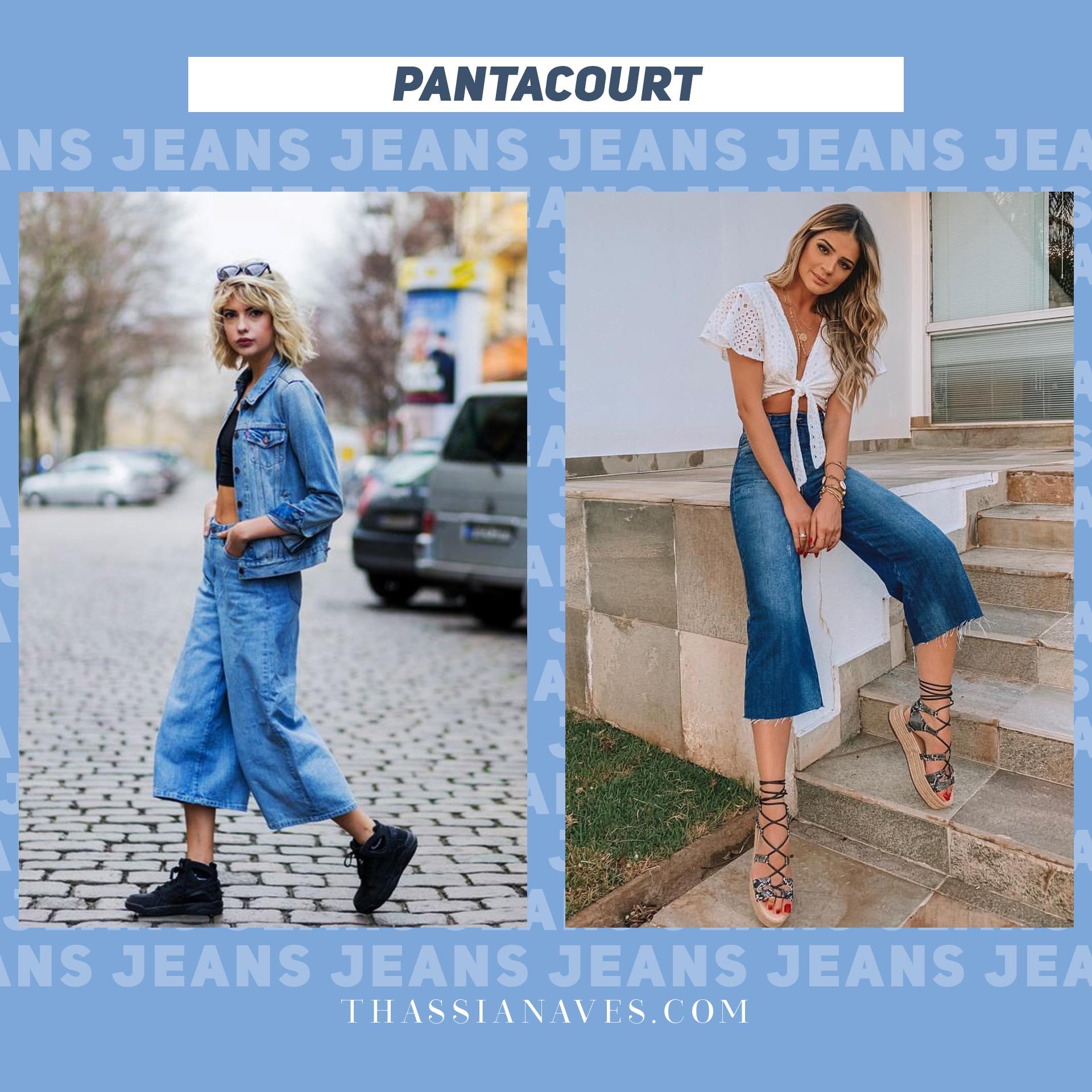 Thássia jeans dia-a-dia pantacourt