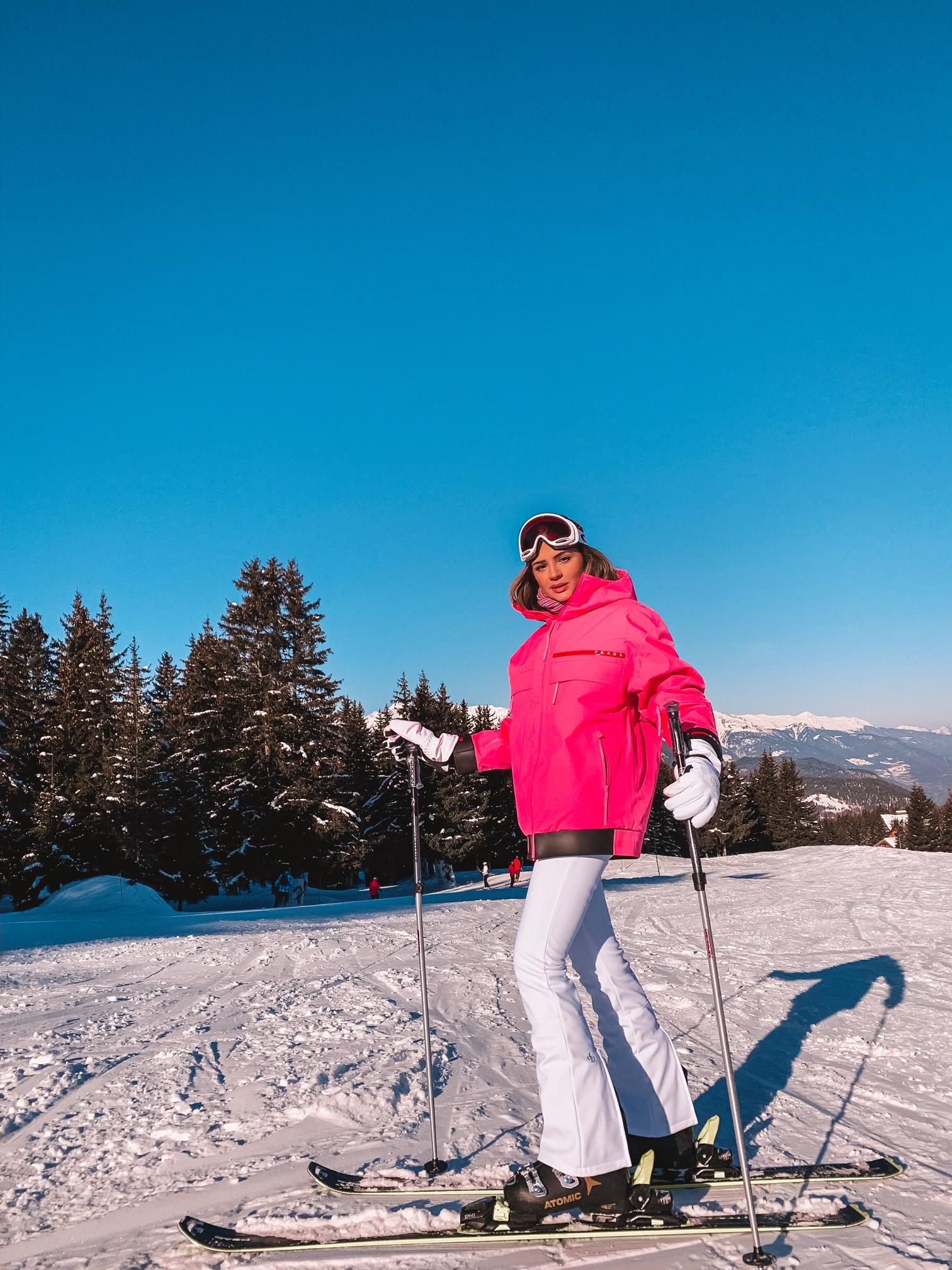 Thássia ski courchevel rosa neon 1