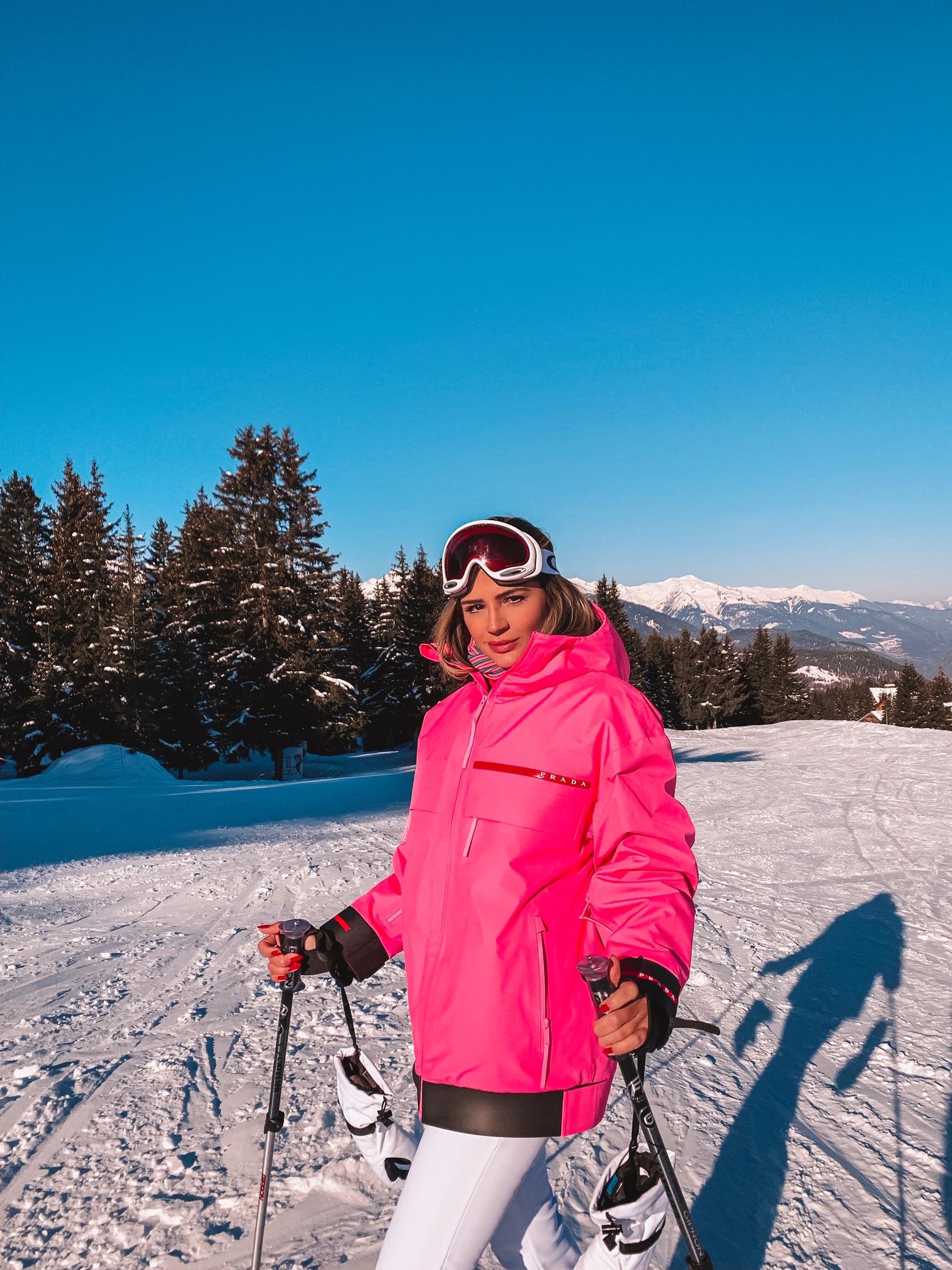 Thássia ski courchevel rosa neon 3