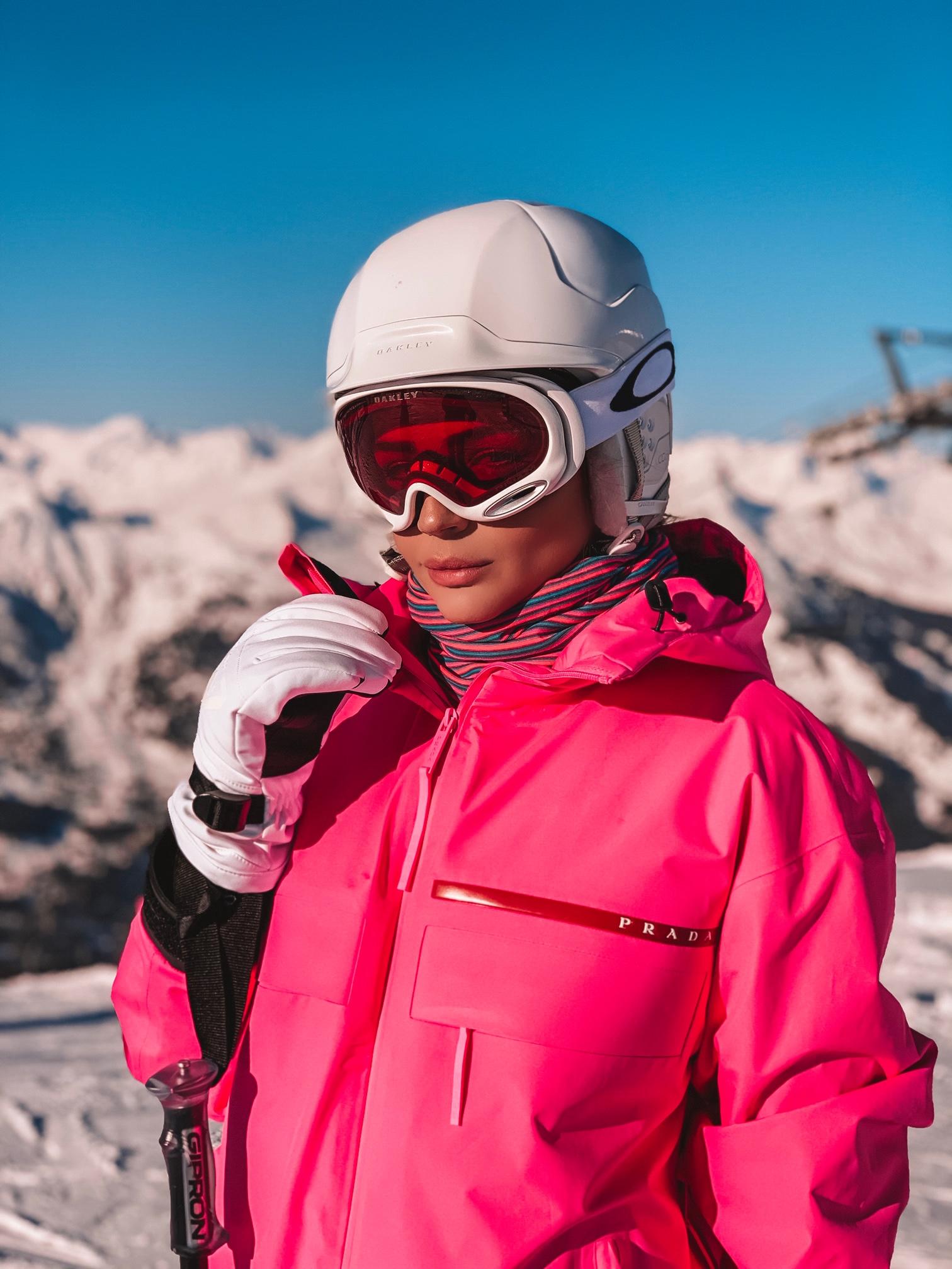 Thássia ski courchevel rosa neon 5