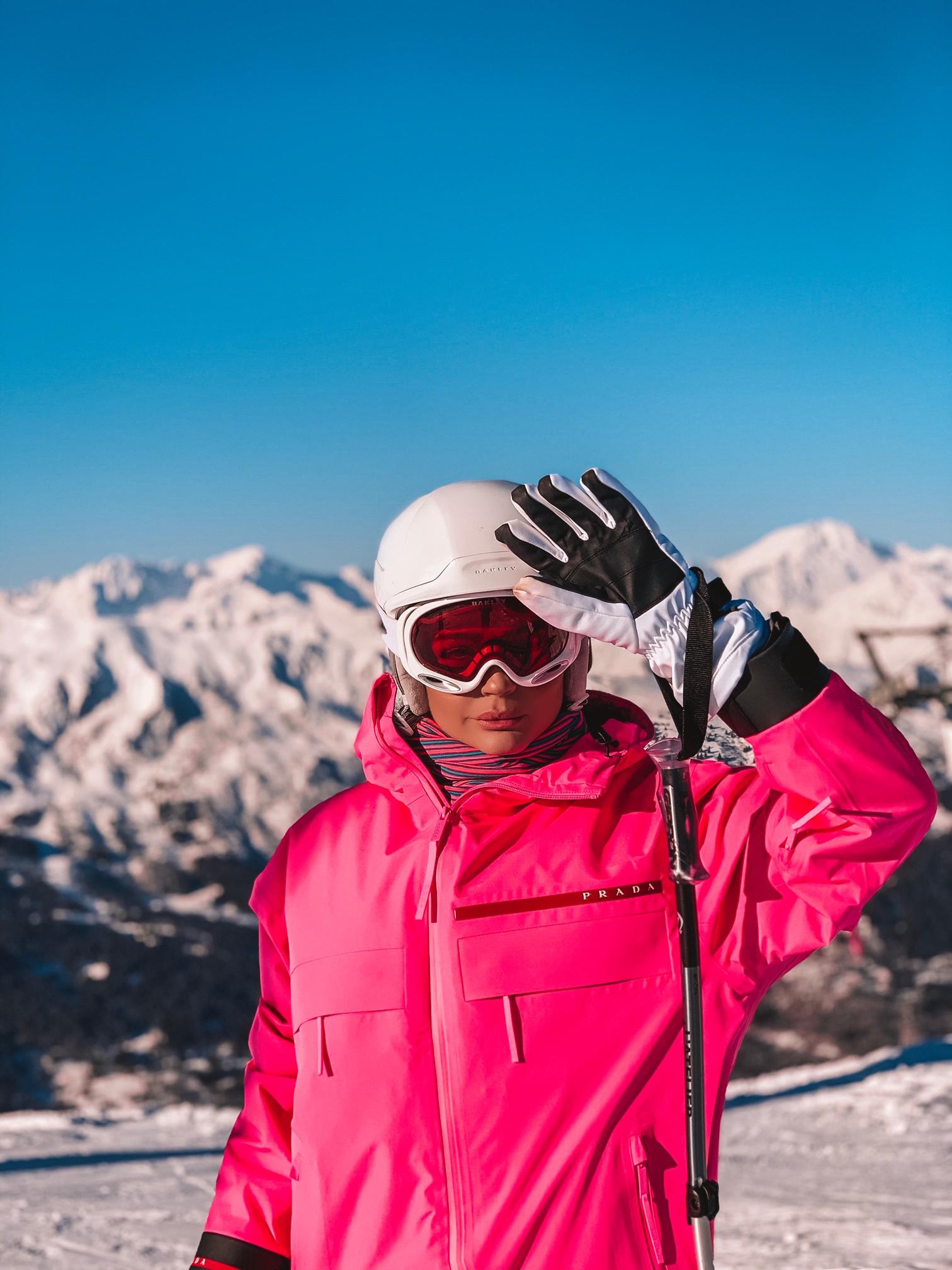 Thássia ski courchevel rosa neon 6