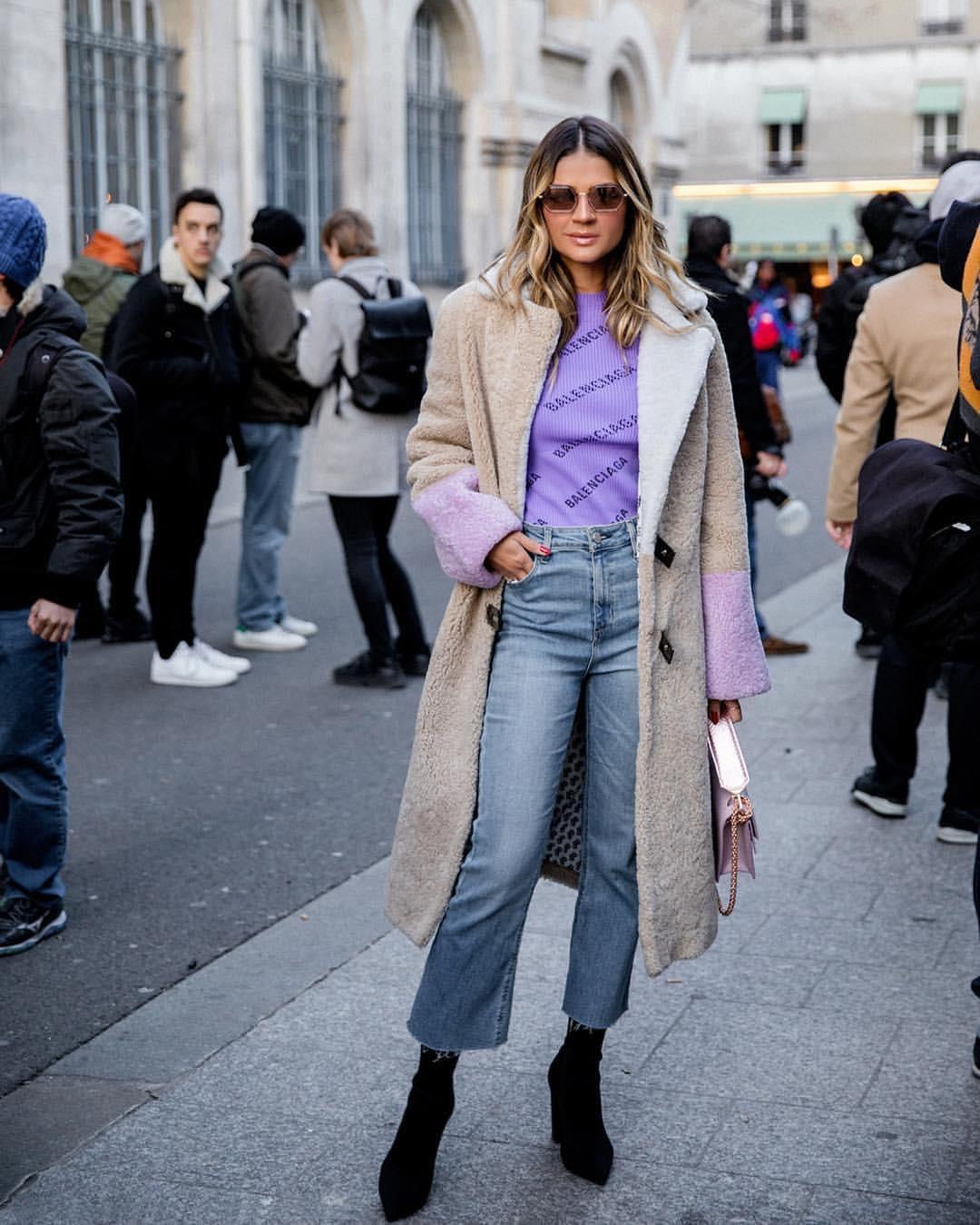 thassia paris neon pastel roxo jeans balenciaga 2
