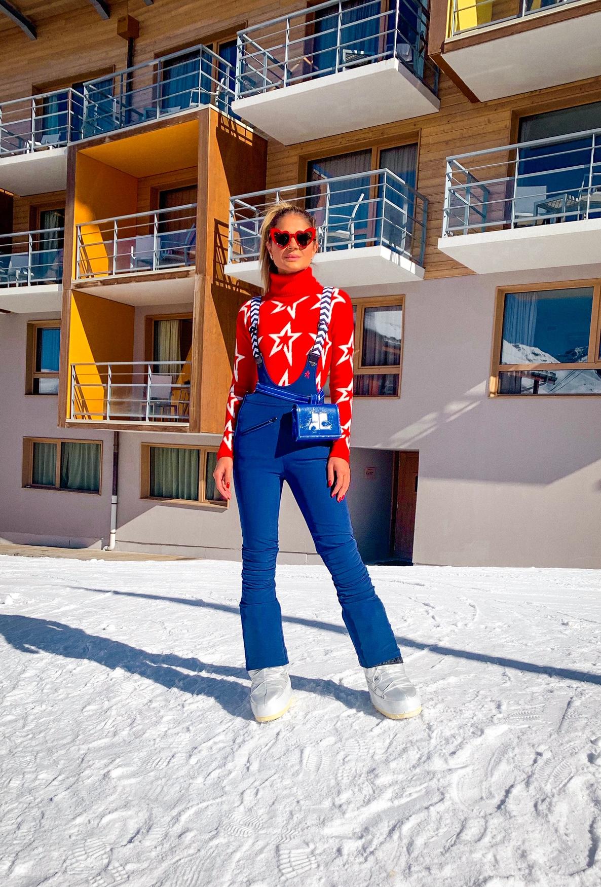 Thássia esqui estrelinhas vermelho azul 2