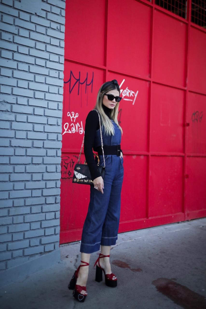 Thássia macacão jeans damyller 8