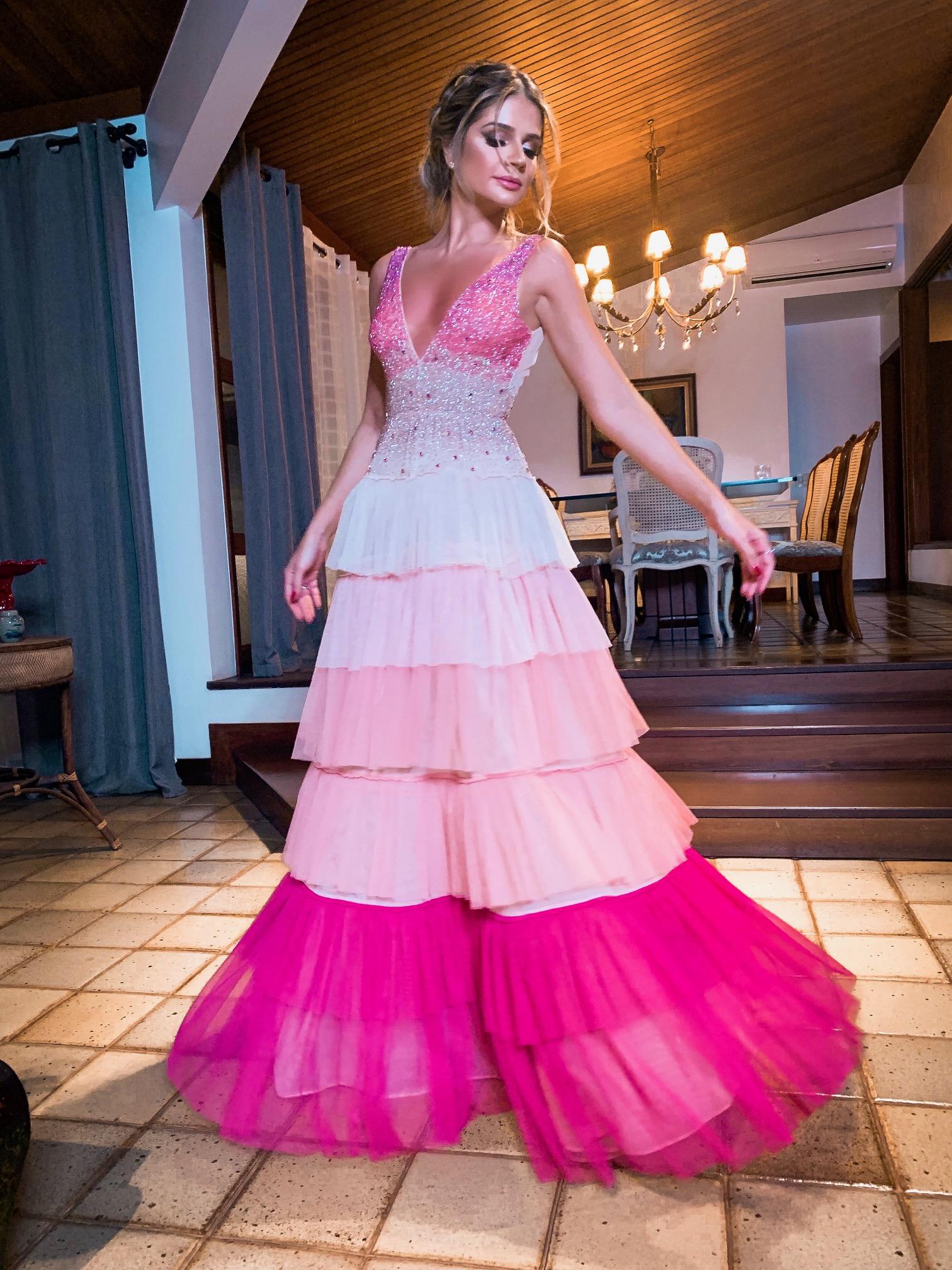 Thássia manzan longo rosa casamento 5