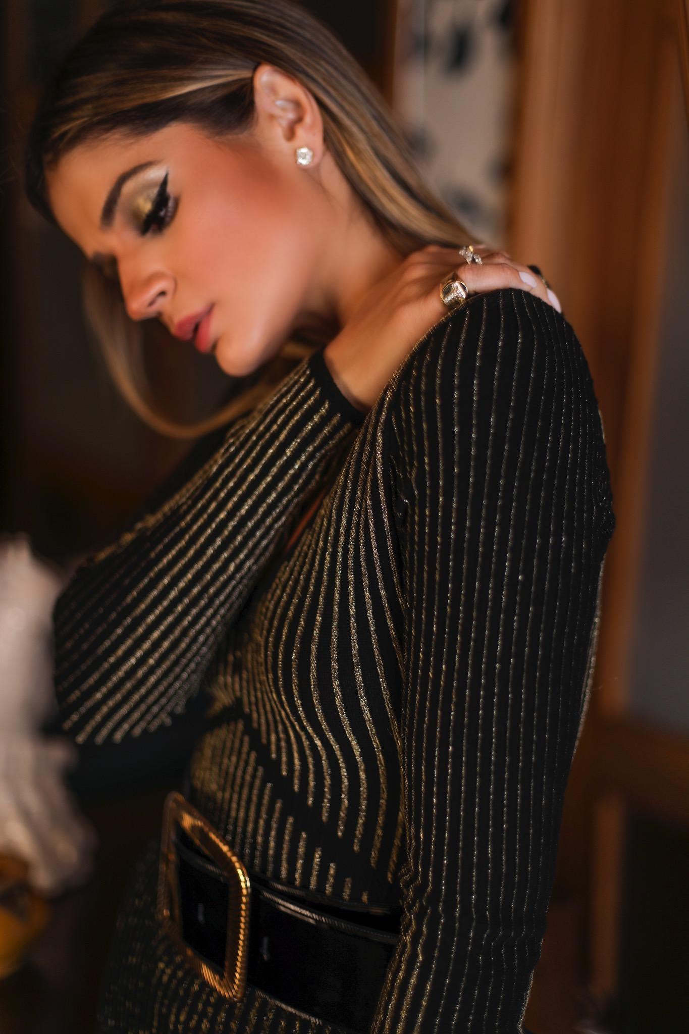 Thássia vestido preto galeria tricot 3