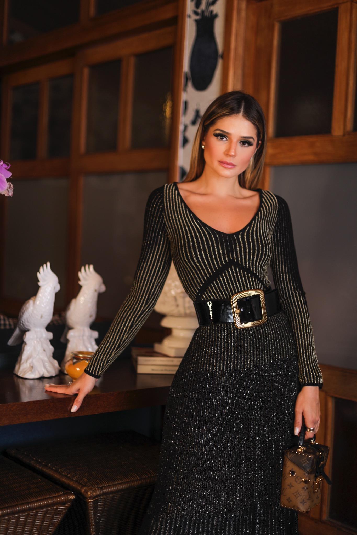 Thássia vestido preto galeria tricot 4