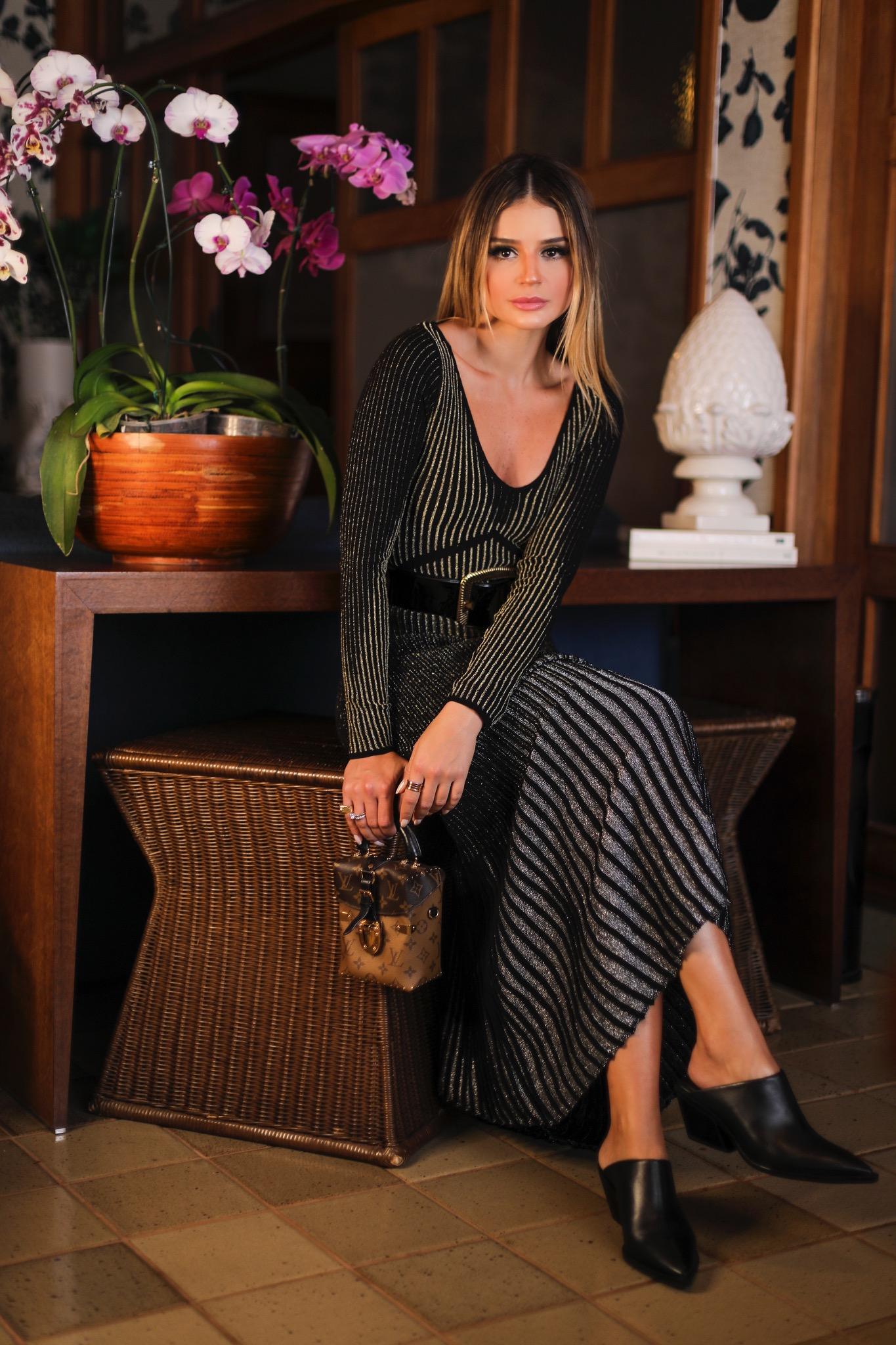 Thássia vestido preto galeria tricot 6