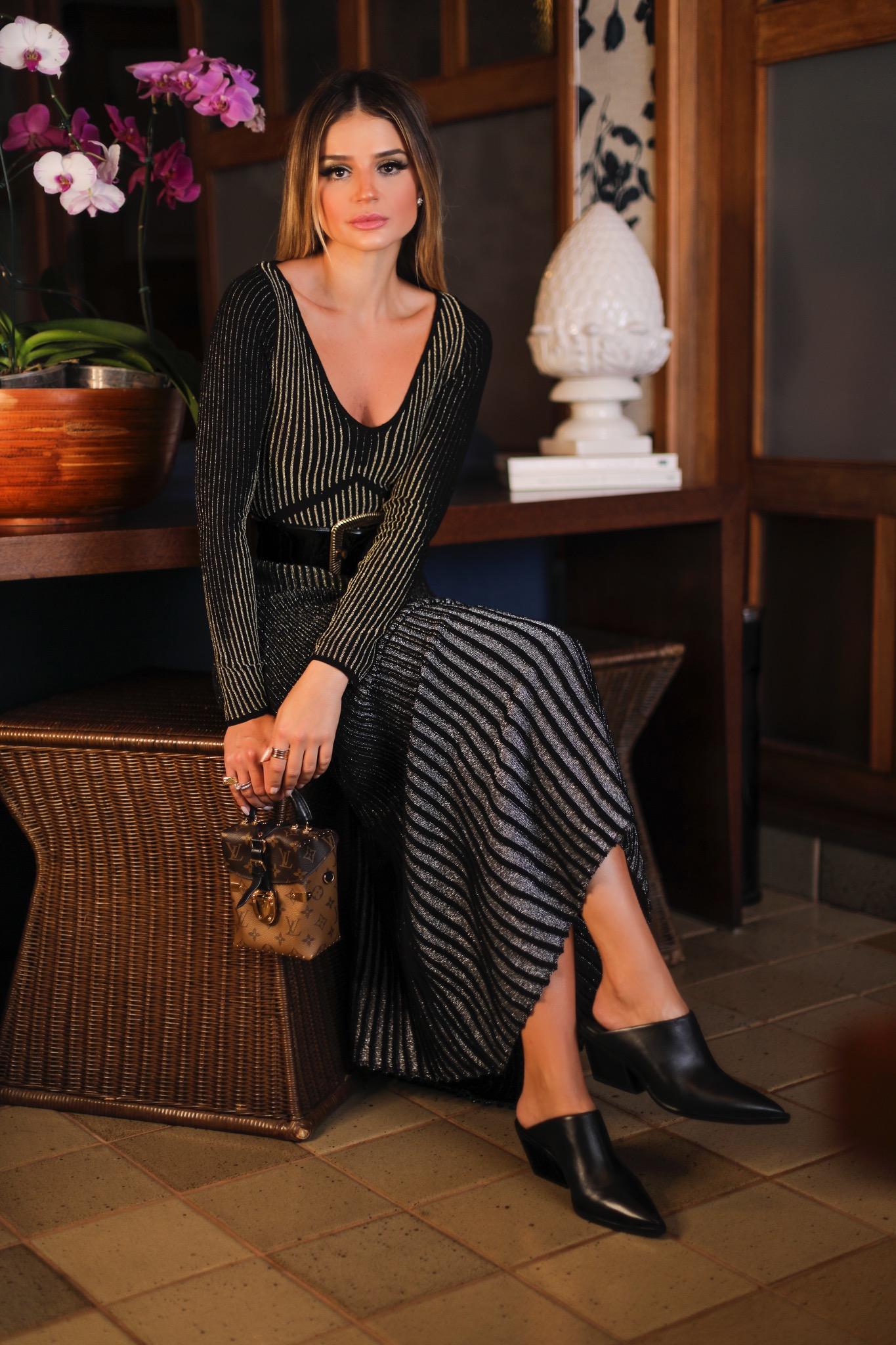 Thássia vestido preto galeria tricot 7
