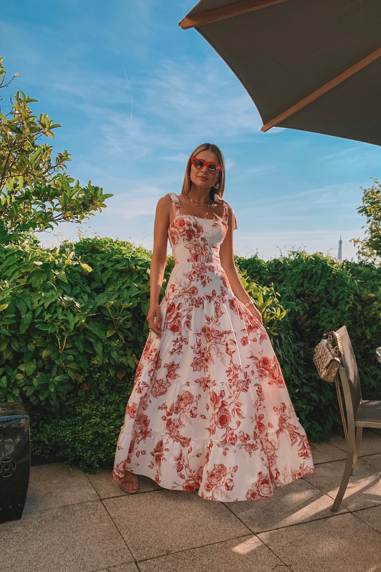 Thássia Skazi paris vestido floral longo 3