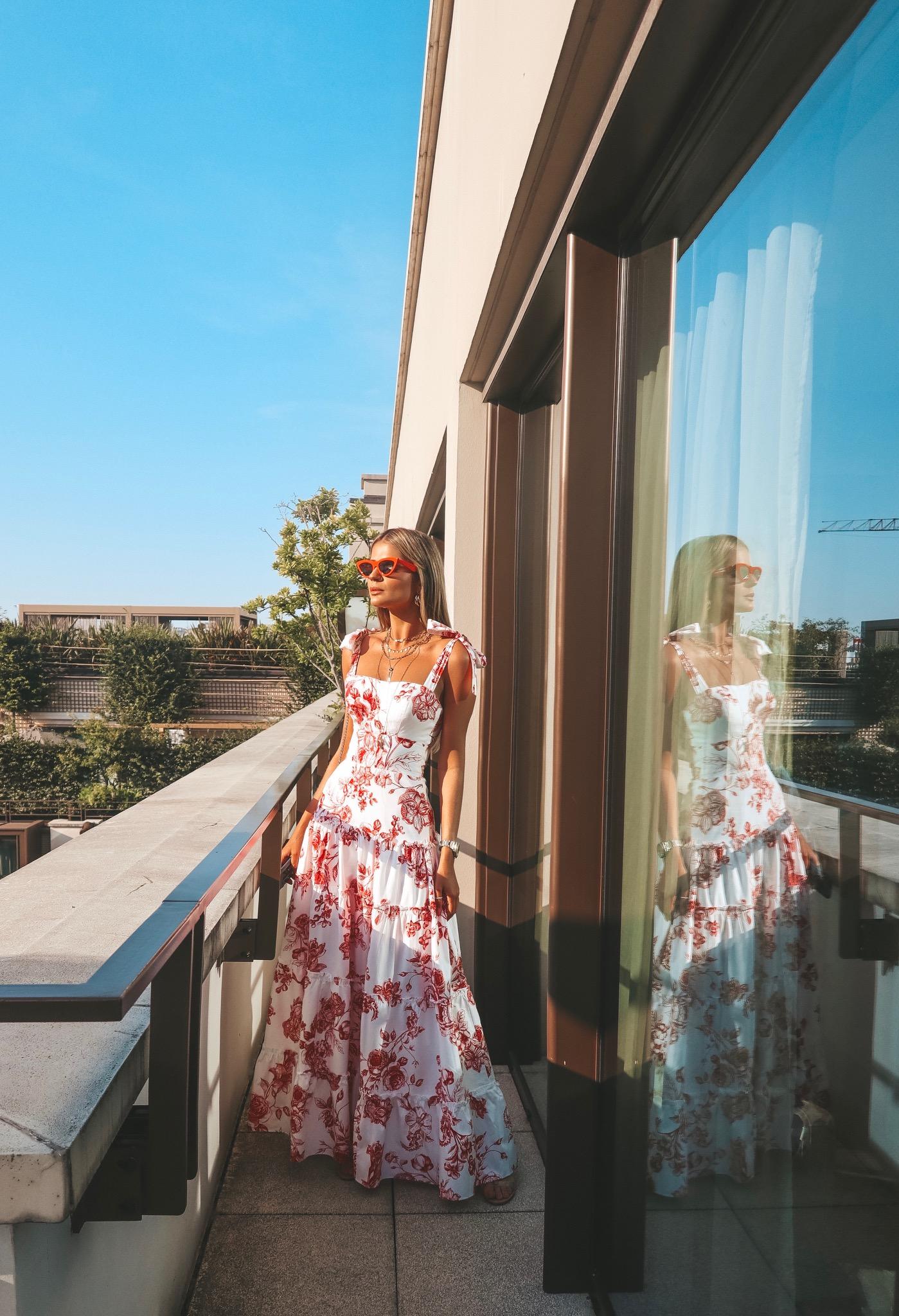 Thássia Skazi paris vestido floral longo