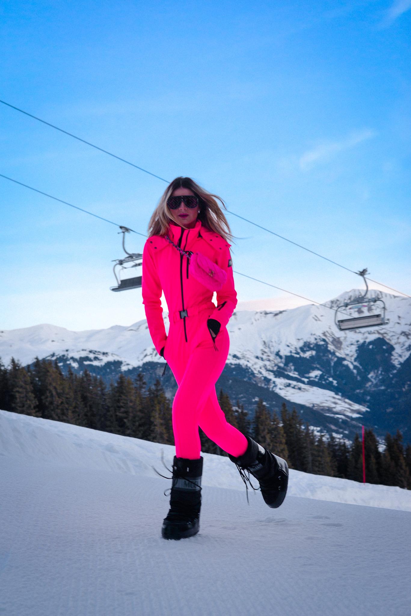 Thássia courchevel esqui pink 1